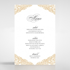 Golden Floral Lux reception menu card stationery