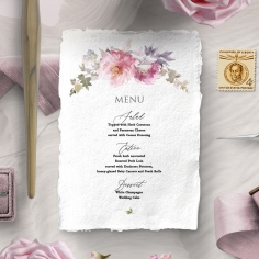 Happily Ever After menu card stationery design