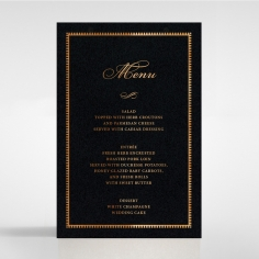Lux Royal Lace with Foil menu card design