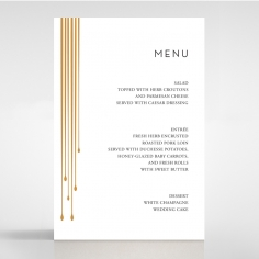 Luxe Intrigue wedding venue table menu card design