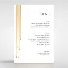 Luxe Intrigue wedding venue table menu card design