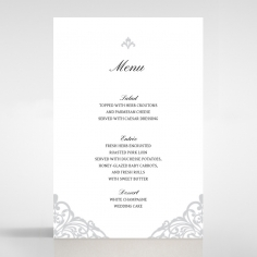 Modern Vintage wedding reception table menu card stationery design