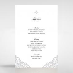 Modern Vintage wedding reception table menu card stationery design