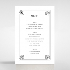 Paper Ace of Spades reception table menu card
