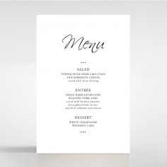 Paper Diamond Drapery wedding stationery table menu card design
