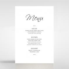 Paper Diamond Drapery wedding stationery table menu card design
