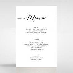 Paper Infinity wedding table menu card design