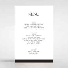 Paper Minimalist Love wedding table menu card stationery design