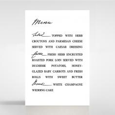 Paper Modern Romance table menu card