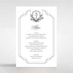 Paper Regal Enchantment wedding table menu card