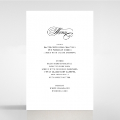 Paper Timeless Romance wedding table menu card stationery
