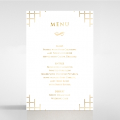 Quilted Letterpress Elegance with foil reception menu card