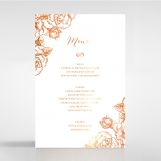 Rose Romance Letterpress with foil reception menu card design