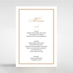 Royal Lace menu card