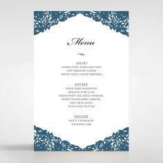 Royal Prestige wedding reception table menu card stationery item