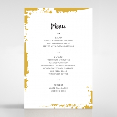 Rusted Charm wedding reception table menu card stationery design