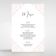 Rustic Elegance wedding venue table menu card