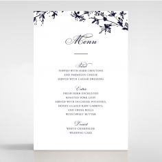 Secret Garden wedding stationery table menu card item