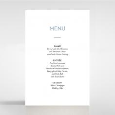 Silver Chic Charm Paper wedding venue menu card stationery item
