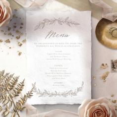 Simple Charm reception table menu card stationery item