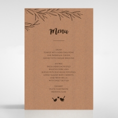 Springtime Love wedding menu card stationery