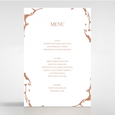 Stonework wedding reception menu card stationery item