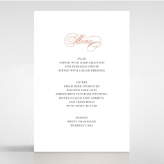 Timeless Romance reception menu card stationery design