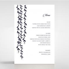 Unbroken Romance reception menu card stationery