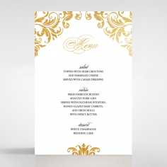 Victorian Extravagance with Foil wedding venue table menu card