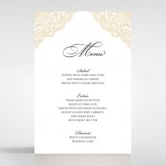 Vintage Prestige reception menu card stationery item