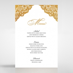 Vintage Prestige with Foil wedding reception menu card