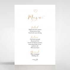 Written In The Stars - Navy menu card design