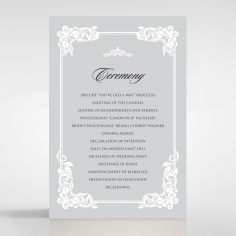 Black Divine Damask order of service invitation card design