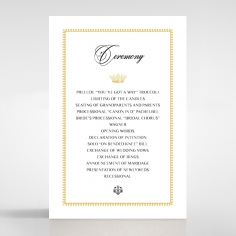 Black Doily Elegance order of service wedding invite card design