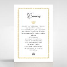 Black Doily Elegance order of service wedding invite card design