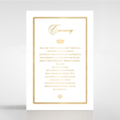Black Doily Elegance with Foil order of service wedding invite card