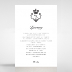 Black Victorian Gates order of service invitation card design