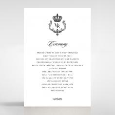 Black Victorian Gates order of service invitation card design