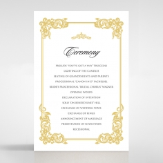 Divine Damask order of service card design