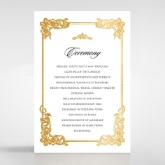 Divine Damask with Foil order of service invitation