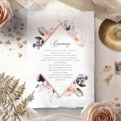 Enchanting Florals wedding stationery order of service ceremony card