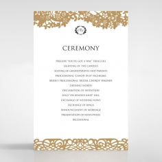 Enchanting Forest wedding stationery order of service invite card design