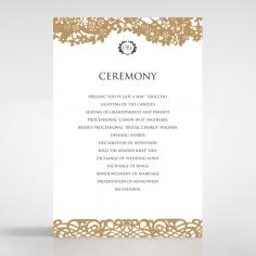 Enchanting Forest wedding stationery order of service invite card design