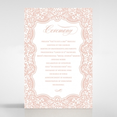 Floral Lace with Foil order of service card design