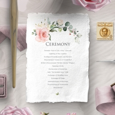 Garden Party wedding stationery order of service ceremony invite card