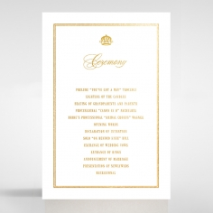 Gold Foil Baroque Gates order of service invite card design