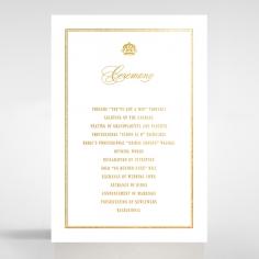 Gold Foil Baroque Gates order of service invite card design