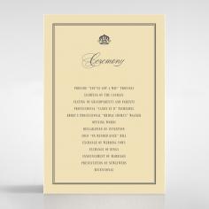 Golden Baroque Gates order of service invite card