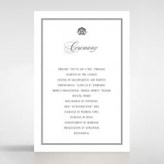 Golden Baroque Gates order of service invite card design