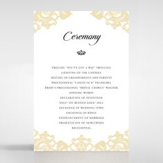 Golden Baroque Pocket wedding stationery order of service ceremony invite card design